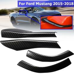 Rearview Mirror Base Cover Trim Decor 4Pcs ABS Carbon For Ford Mustang 2015 2018 $16.98