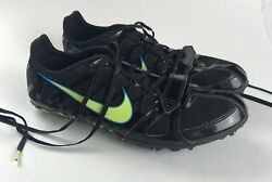 NIKE Zoom Rival S Womens Track Racing Sprint Black Yellow Spikes Cleats Size 9 $24.99