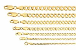 BRAND NEW 10k Yellow Gold 2mm 7.5mm Cuban Curb Link Chain Necklace 16quot; 30quot; $158.60