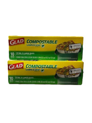 Glad Compostable Lawn and Leaf X Large Trash Bags 33 Gallon 10 Count Pk of 2 $12.99