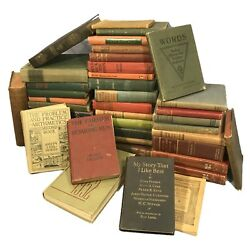 Vintage antique Books Lot of 10 Random unsorted mixed wholesale crafts $36.50