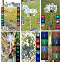 Solar Powered Garden Decor Stake Path Lawn Yard LED Outdoor Landscape Light Sun