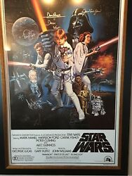 Star Wars - A New Hope Framed Signed 30