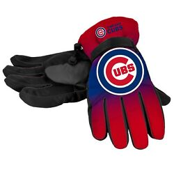 Chicago Cubs Gloves Logo Gradient Insulated Winter NEW Unisex Small M Large XL $19.75