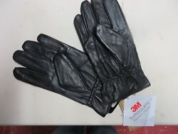 Mens Black Soft Leather Gloves 40 Gram 3M Thinsulate Insulation $17.00