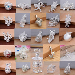 Fashion 925 Silver Charms Pendant For Necklace Unisex Wedding Jewelry Gifts C $0.99