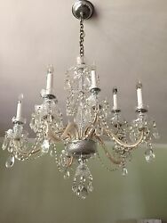 Traditional Ten Light Crystal Chandelier