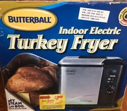 Masterbuilt Butterball Indoor Electric Turkey Fryer Up to 14lb Turkey SteamBoiL