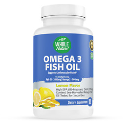 WHOLE NATURE Omega 3 Fish Oil Supplements 2400 mg Omega 1440mg Fish Oil $19.00