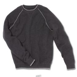 The Washable Cashmere Sweatshirt Charcoal Gray Crewneck Size Large 44-45