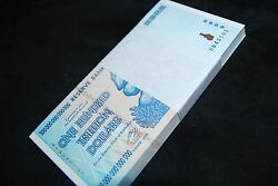 14TH BUNDLE (25 PCS) ZIMBABWE 100 TRILLION UNC SEQUENTIAL. OVER 50 IN STOCK!