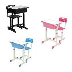 New 3 Colors Student Desk and Chair Set Adjustable Child Study Home Furniture $69.99