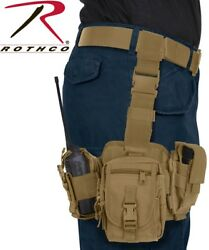 Coyote Tactical PALS MOLLE Modular Drop Down Utility Thigh Leg Rig Rothco 11750 $36.99