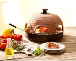 Indoor Portable Pizza Oven Party Outdoor Patio 6 Person Mini Pizza Electric