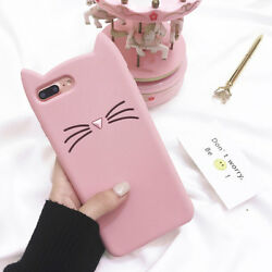 Girly Cat Cute for iPhone Case Silicone Cover F iPhone Xs Max XR 7 8 Plus $7.89