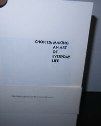 Marcia Tucker: Choices Making An Art of Everyday Life Scarce Spalding Gray $80.00