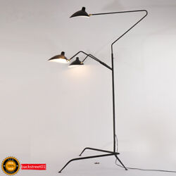Aluminum Black Arms LED Floor Lamp Standing Lamps Office Reproduction Lighting $149.00