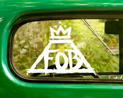 2 FALL OUT  BOY DECAL Stickers For Car Window Bumper Truck Laptop Jeep Rv