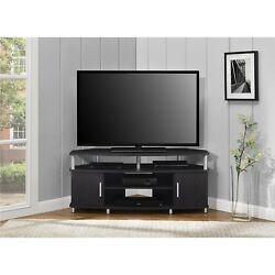 NEW Expresso Chrome Corner TV Media Stand Audio Tower Electronics Cabinet Brown
