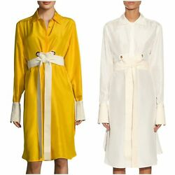MAX MARA Women's Tazzina Tie Waist Shirt Dress $945 NWT