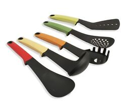 Michael Andrew Collection 5 PC Kitchen Nylon Utensil Set Trendy Colors