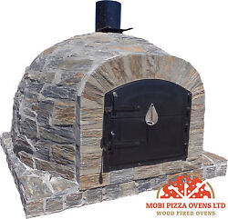 AMAZING OUTDOOR GARDEN BRICK WOOD FIRED PIZZA OVEN 90x90 NATURAL STONE MODEL