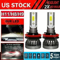 2 Bulbs H4 HB2 9003 LED Headlight Kit Combo 2600W 390000LM High Low Beam 6000K