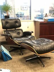 Authentic Herman Miller Eames Lounge Chair Set pre-owned