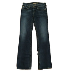 Big Star Womens 27L Blue Jeans Mia Low Rise Bootcut Dark Wash $15.00