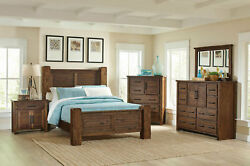 NEW American Rustic Bedroom Furniture - 5pc KENDALL Queen or King Poster Bed Set