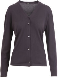 Brioni women's cardigan V-neck 100% cashmere button closure size US 10