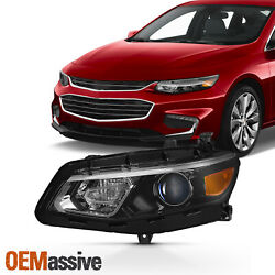Fits 2016-2018 Chevy Malibu Left Driver Side Projector Headlight Replacement