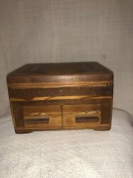 Handmade Inlet Wooden Jewelry Box Intricate Woodworking
