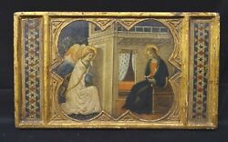 15th 16th Century Italian Renaissance The Annunciation Gold Panel Painting