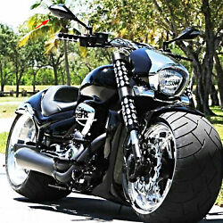 LED Turn Signal Integrated Motorcycle Mirrors BLACK For Suzuki Boulevard M109R