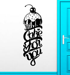 Vinyl Wall Decal Cake For You Bakery Bakeshop Kitchen Decor Stickers 3492ig $27.99