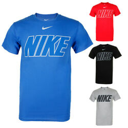 Nike Men's Short Sleeve Logo Graphic Crew Neck Active T-Shirt