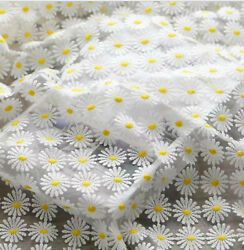daisy white tulle exquisite flower embroidery lace fabric wedding lace bridal $9.80