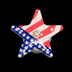 Lumistick Light Up American Flag Star Magnetic Flashing Patriotic LED Badge Lot