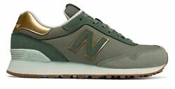 New Balance Women's 515 Shoes Green With Gold