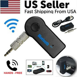 Wireless Bluetooth 3.5mm AUX Audio Stereo Music Home Car Receiver Adapter New