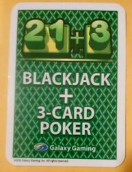 2016 BLACKJACK GALAXY GAMING LAS VEGAS HOW TO PLAY CARD GREAT FOR COLLECTION $3.00