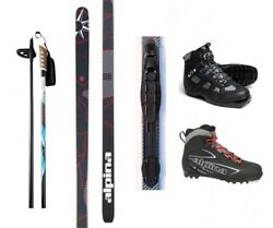 NEW ALPINA CONTROL XC CROSS COUNTRY NNN SKIS BINDINGS BOOTS POLES PACKAGE 190cm $219.00
