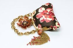 GUCCI by Tom Ford Bamboo Satin Flower Bag $2,500.00