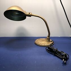Antique Work Desk Lamp Newly Wired Light Office 45F $100.00
