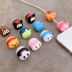 Cute Disney cartoon Cable Charger Protector Pet Charging Cable Saver for iPhone $4.78