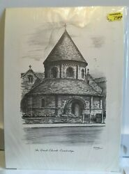 1 EtchingSketch Round Church Cambridge Reproduction by W.H. Constantine Judges