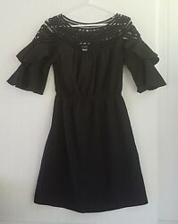 Esley Black Boho Dress Size Small Country Chic Super Cute $19.95