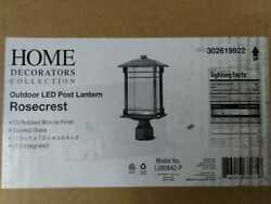 Home Decorators Collection Outdoor Oil Rubbed Bronze Integrated LED Post Light $49.90