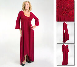 NEW Zaftique ADRIANNA DRESS Garnet Red 2Z 3Z 20 24 2X 3X
